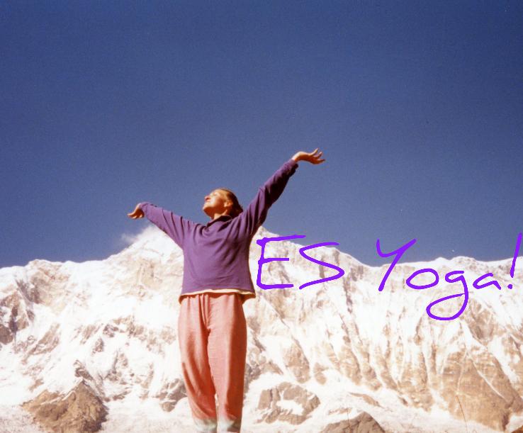 Tatiana at Annapurna Base Camp, Nepal. Yes Yoga - Tatiana Knight
